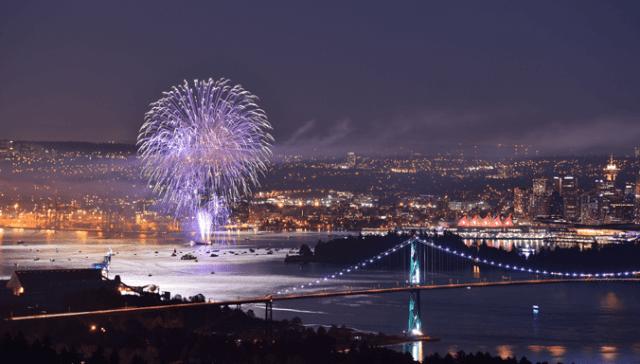 fogos de artifício Canada Day Vancouver