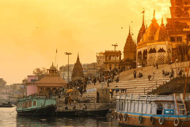Rio Ganges Varanasi Índia