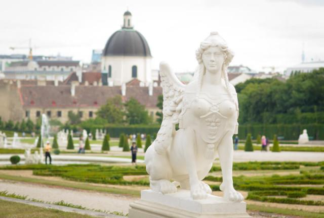 jardins palácio belvedere viena áustria