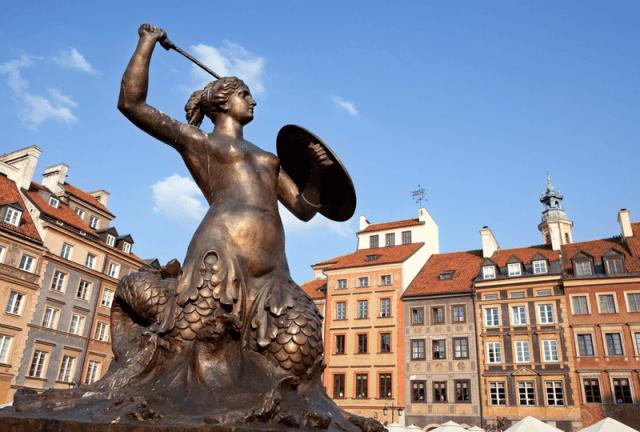 Cidade Velha Varsóvia Polônia Europa viagem
