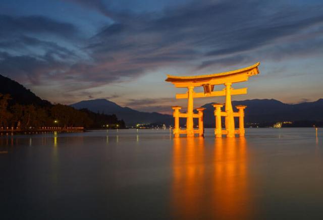 santuário Itsukushima japão