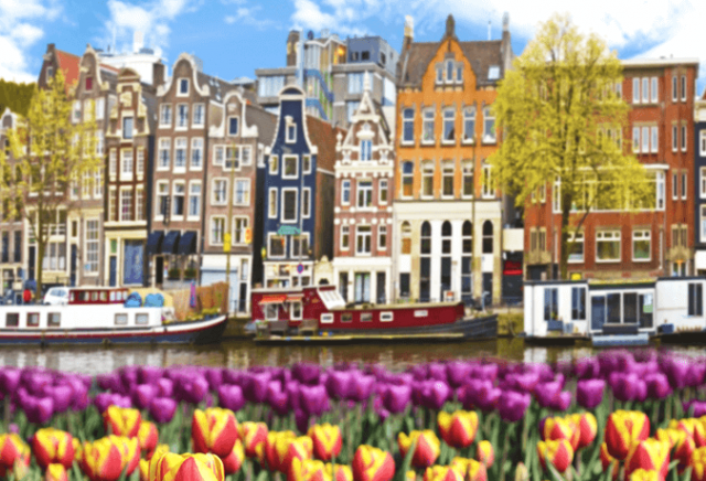Canais Amsterdã Holanda