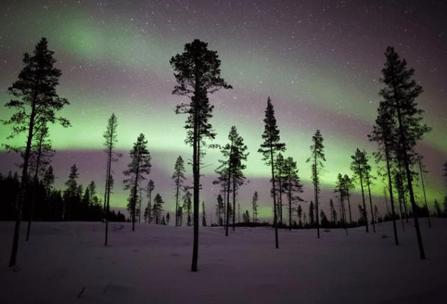 aurora boreal Escandinávia