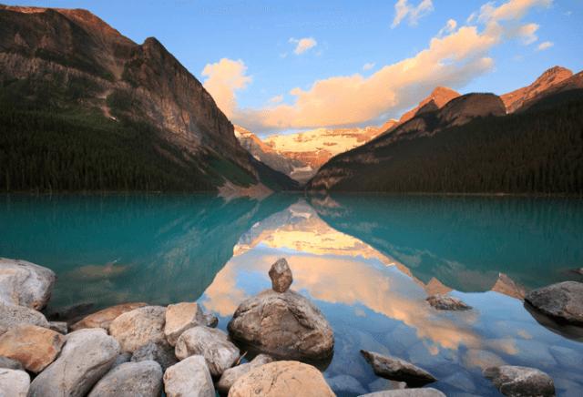 Lake Moraine Banff oeste canadá