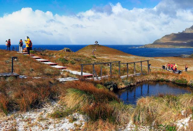 Monumento al Albatros no Parque Nacional Cabo de Hornos