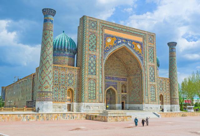 Praça Registan Samarcanda Uzbequistão