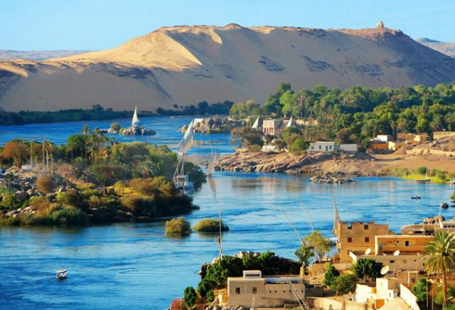 aswan rio nilo egito