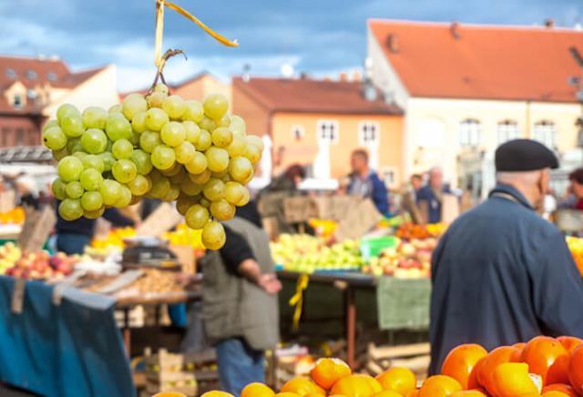 Mercado Dolac Zagreb Croácia