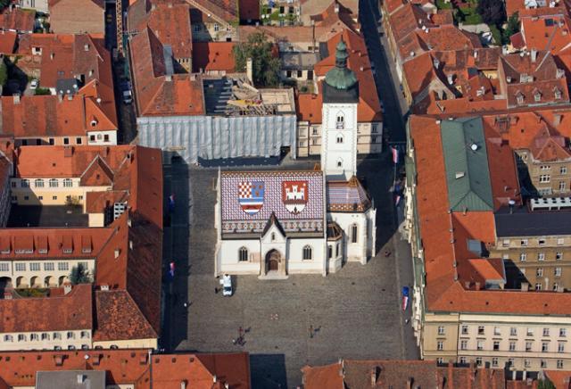 Praça de São Marcos igreja Zagreb Croácia