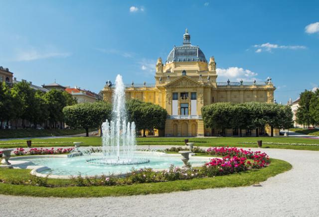 pavilhão da arte Zagreb Croácia